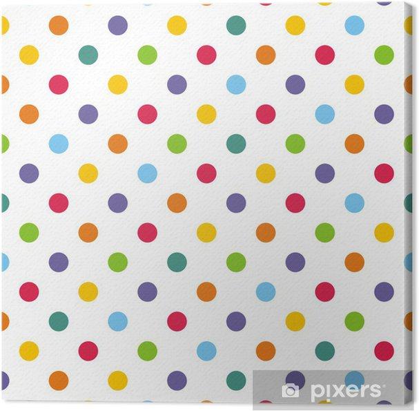 Canvastavla Seamless vektor mönster eller bakgrund med färgglada prickar