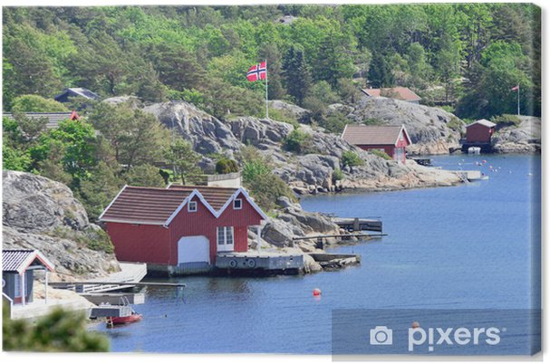 Canvastavla Skandinavisk kustlinje - Teman