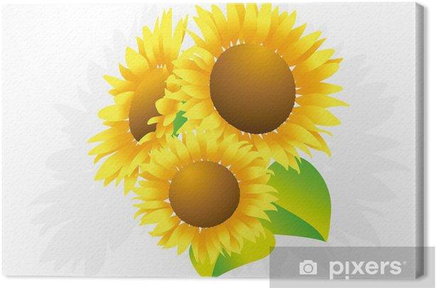Canvastavla Solros - Blommor