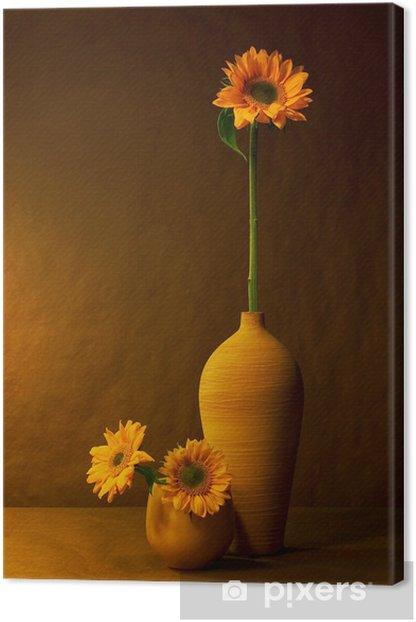 Canvastavla Solrosor - Blommor