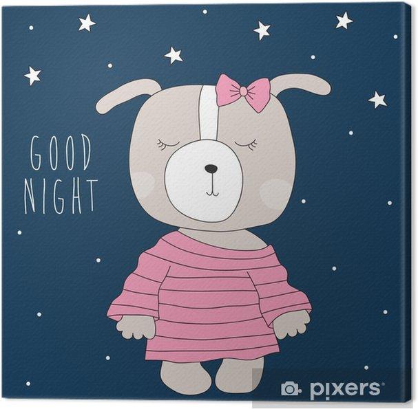 Canvastavla Söt hund bär pyjamas vektor • Pixers® - Vi lever för ... f7549a5828d8e
