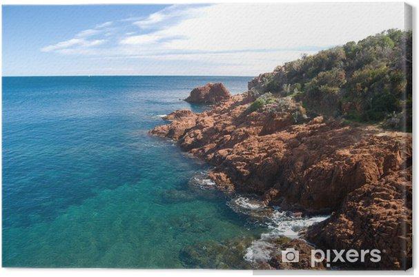 Canvastavla Stranderna Pa Franska Rivieran Riviera Frankrike Pixers Vi Lever For Forandring