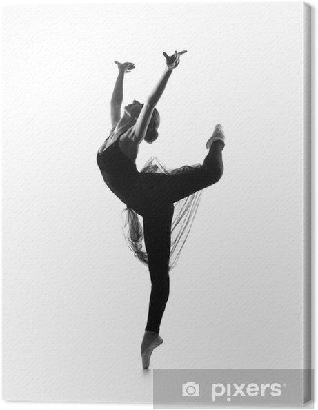 71f0c9042d85 Canvastavla Svart och vitt spår av unga vackra balettdansös • Pixers ...