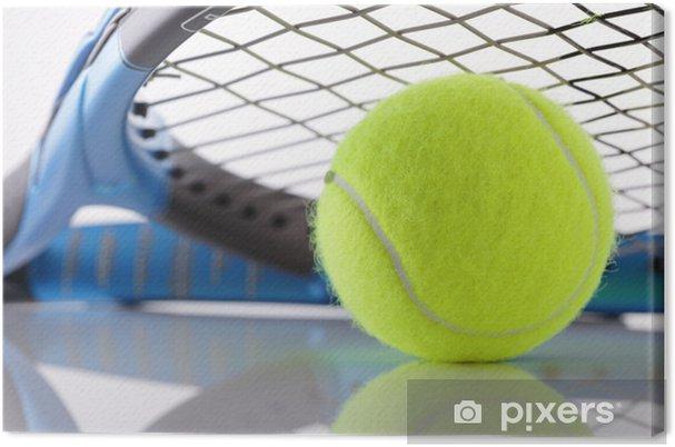 Canvastavla Tennis racket och boll • Pixers® - Vi lever för förändring 84b8bdc68c2db