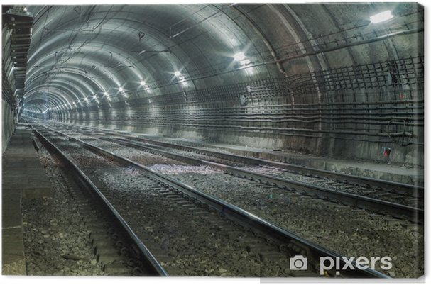 Canvastavla Tom Subway Tunnel - Teman