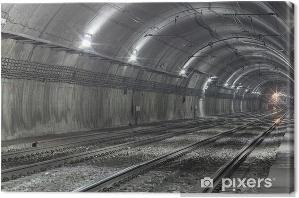 Canvastavla Tom Subway Tunnel - Teman