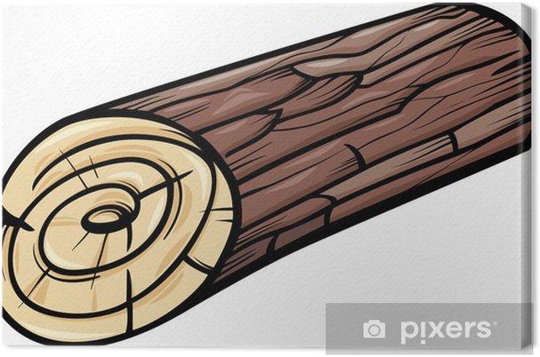Splitter nya Canvastavla Trä log eller stubbe tecknad ClipArt • Pixers® - Vi QY-69