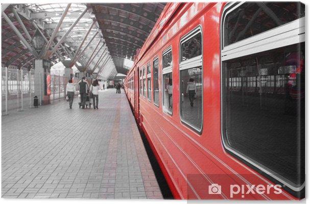 Canvastavla Träna på stationen - Teman