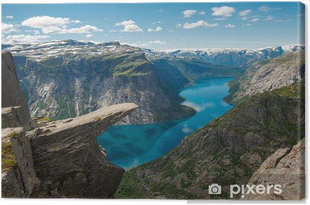 Canvastavla Trolltunga, Troll tunga rock, Norge - Teman