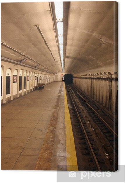 Canvastavla Tunnelbana - Teman