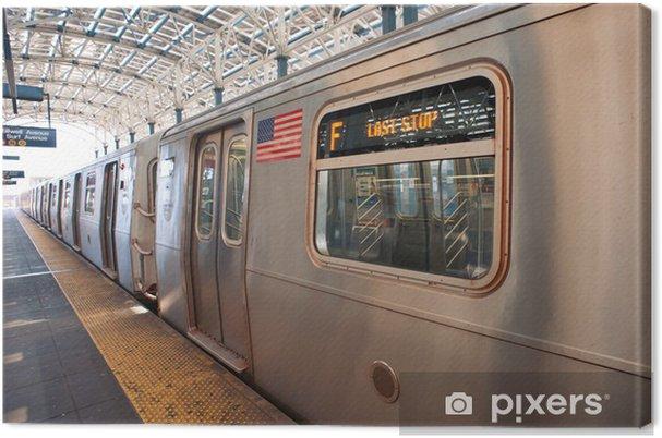Canvastavla Tunnelbanan i slutet av körningen i Coney Island, NY - Teman