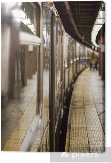 Canvastavla Tunnelbanan på en station - Teman
