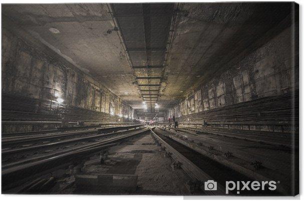 Canvastavla Tunnelbanetunnel - Teman