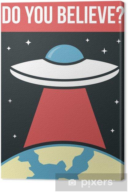 Canvastavla UFO poster - Tecken och symboler