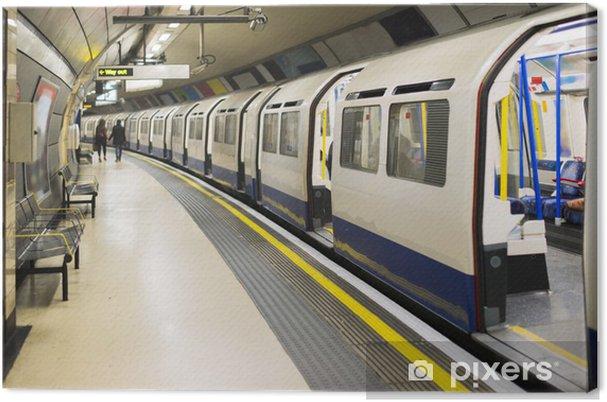 Canvastavla Underground i London - Teman