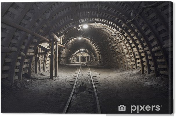 Canvastavla Underjordisk tunnel i kolgruvan - Teman