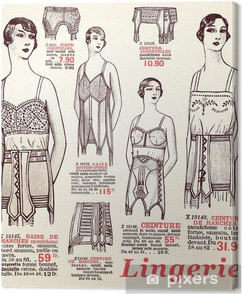 Canvastavla Underkläder 1930 - Texturer