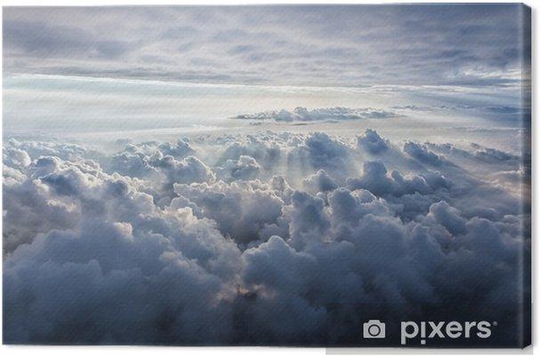 Canvastavla Vacker blå himmel bakgrund - Landskap