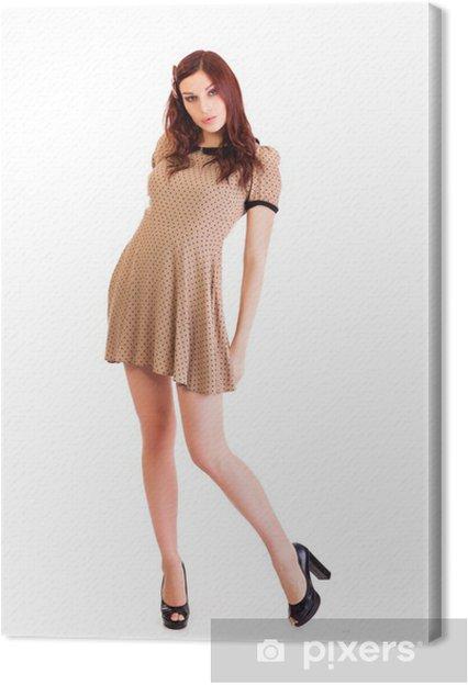 e12cb032a401 Canvastavla Vacker kvinna bär sexiga kläder • Pixers® - Vi lever för ...