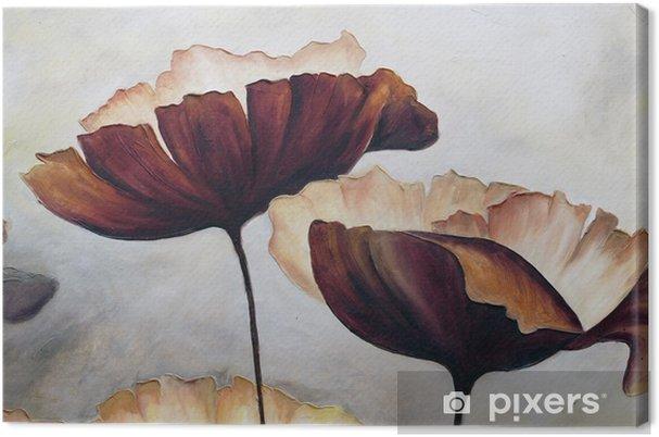Canvastavla Vallmo abstrakt målning - Hobby och fritid