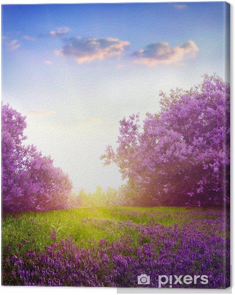 Canvastavla Våren liggande - Teman