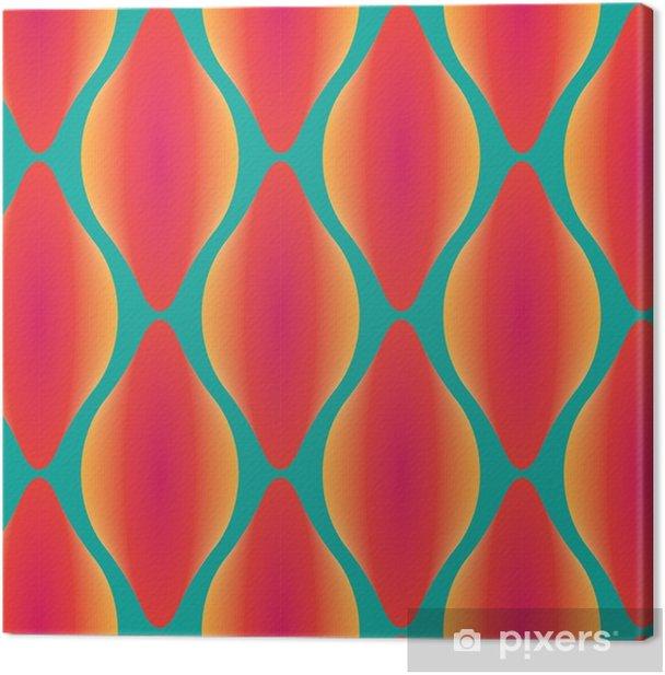 Canvastavla Vektor färgrik abstrakt samtida seamless geometriska mönster - Grafiska resurser