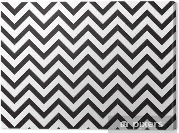 Canvastavla Vektor modern sömlös geometri mönster chevron, svart och vitt abstrakt geometrisk bakgrund, subtila kudde tryck, monokrom retro textur, hipster mode design - Grafiska resurser