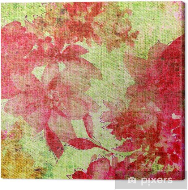Canvastavla Vintage blommig bakgrund - Texturer