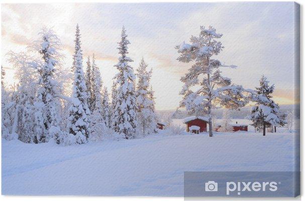 Canvastavla Vinterlandskap - Teman