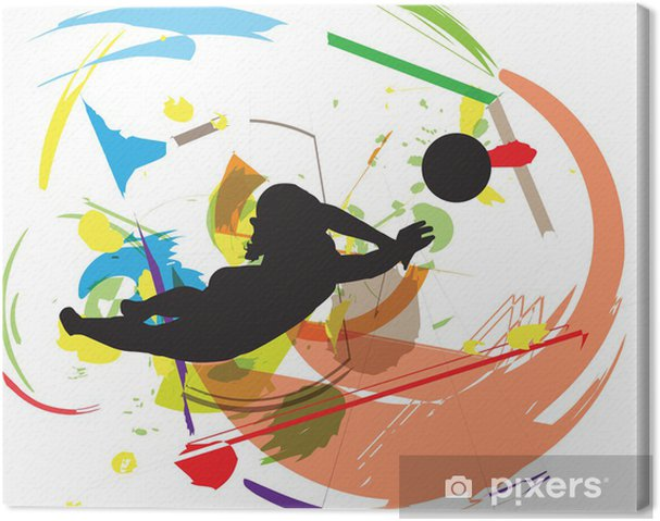 Canvastavla Volleyboll illustration - Volleyboll