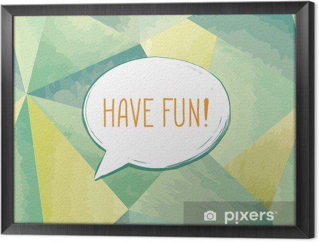 Çerçeveli Tuval Konuşma balonu yazı eğlenceli var. komik işaret. Parti daveti. - Grafik kaynakları