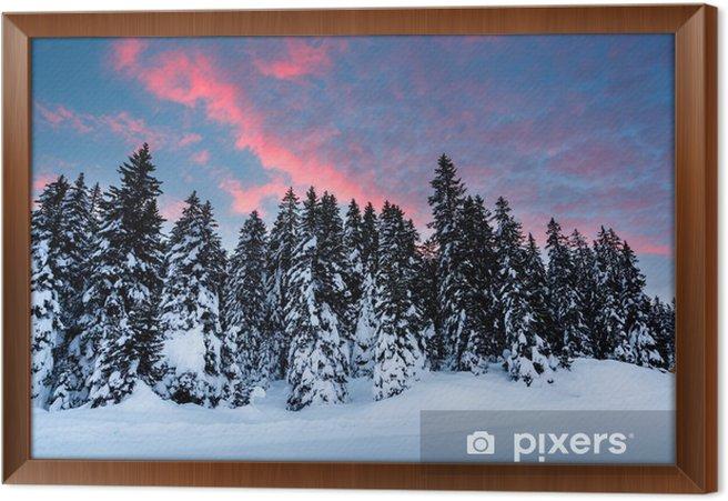 Çerçeveli Tuval Madonna di Campiglio Kayak, Italian yakınlarındaki Güzel Sunrise - Avrupa