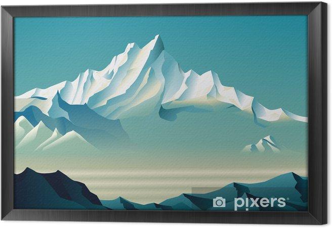 Çerçeveli Tuval Roerich'in tarzı büyüleyici karlı dağlar. - Sanat ve yaratıcılık