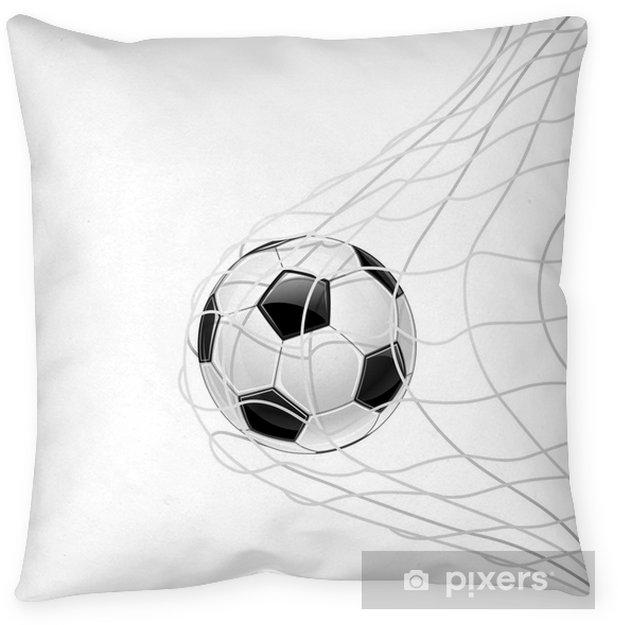 Cojín decorativo Balón de fútbol en red aislada. Vector - Partidos y competiciones
