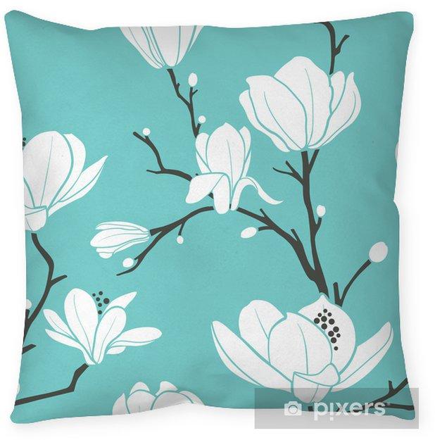 Cojín decorativo Blue magnolia pattern - Temas
