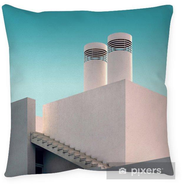 Cojín decorativo Casa moderna. Composición arquitectónica de formas geométricas. - Construcciones y arquitectura