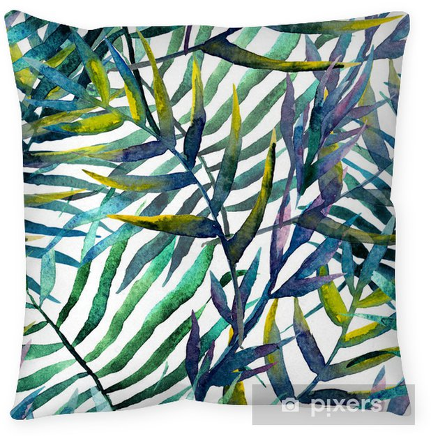 Cojín decorativo Deja el modelo abstracto papel tapiz de fondo de la acuarela - iStaging