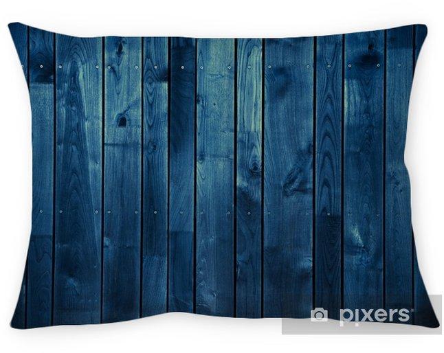 Cojín decorativo Fondo de madera azul oscuro - Recursos gráficos