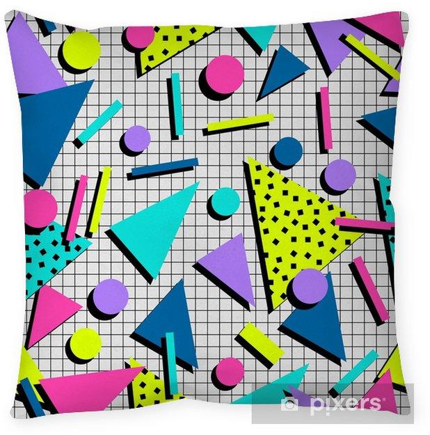 Cojín decorativo Fondo retro de patrones sin fisuras de los años 80 - Recursos gráficos