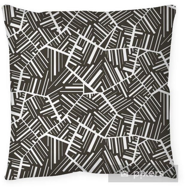 Cojín decorativo Geométrica patrón transparente con motivos de fondo abstracto. Vistoso - Fondos