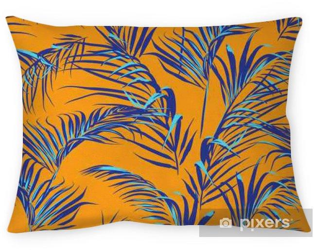 Cojín decorativo Hojas de palmera tropical patrón transparente - Viajes