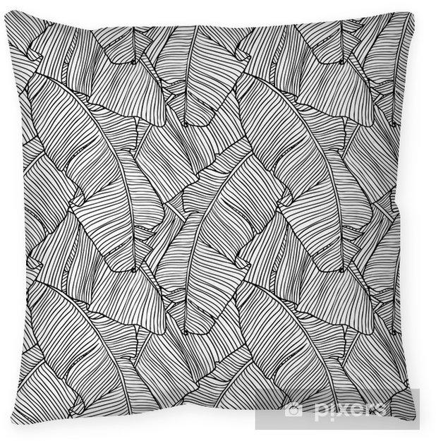 Cojín decorativo Ilustración vectorial hojas de palmera. Seamless pattern. - Fondos