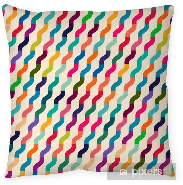 Cojín decorativo Las ondas de colores sin costura para uso universal. - Fondos
