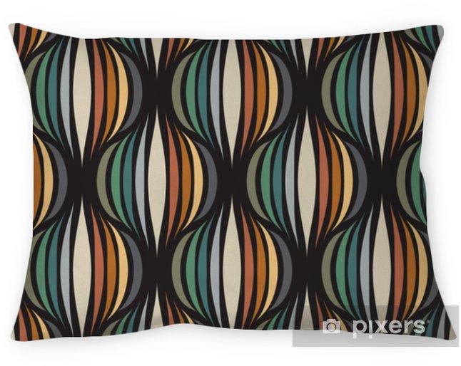 Cojín decorativo Papel tapiz repetitivo retro - patrón de vector vintage - Recursos gráficos