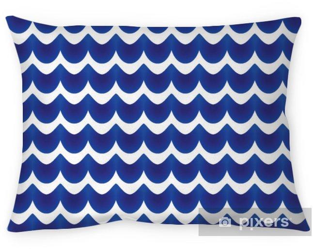 Cojín decorativo Patrón abstracto azul y blanco - Recursos gráficos