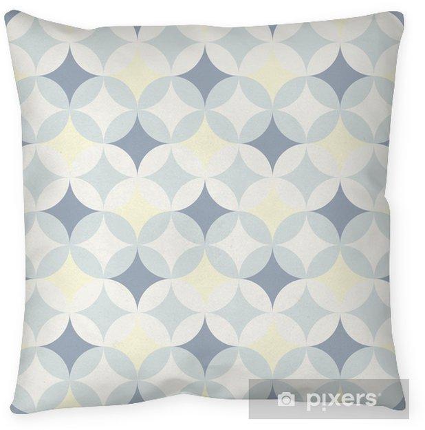 Cojín decorativo Patrón geométrico abstracto retro - Fondos