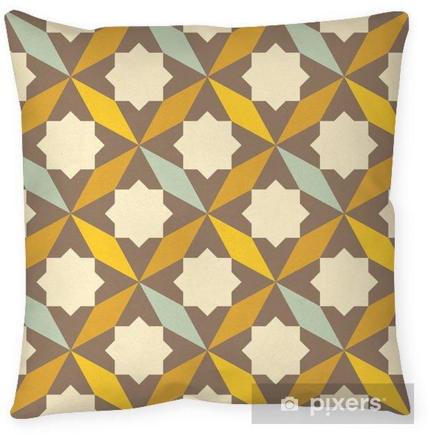 Cojín decorativo Patrón geométrico abstracto retro - Abstractos