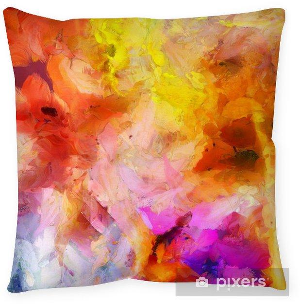 Cojín decorativo Pintura abstracta colorida - Recursos gráficos