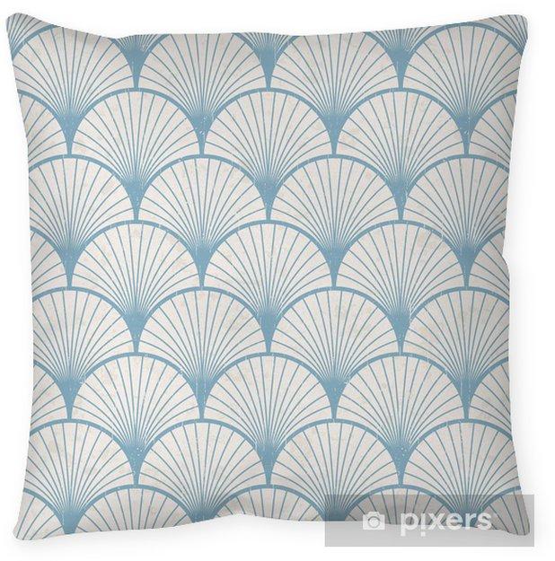 Cojín decorativo Textura transparente de patrón japonés retro - Estilos