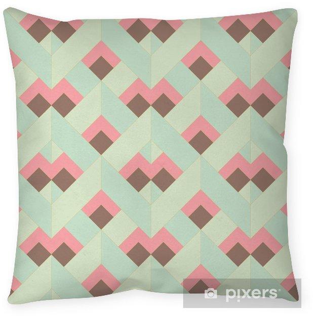 Cojín decorativo Vector colorido patrón geométrico retro abstracto sin fisuras - Recursos gráficos